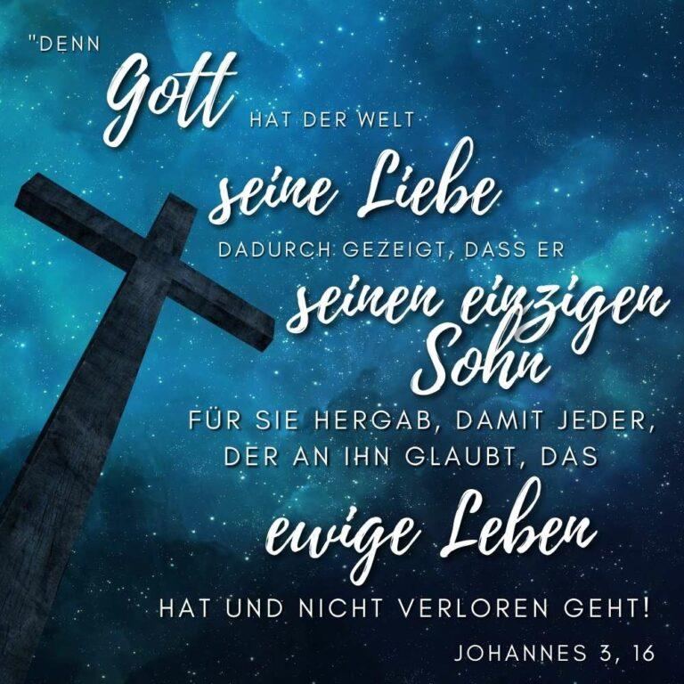 evangelistische Bibelverse Johannes 3, 16