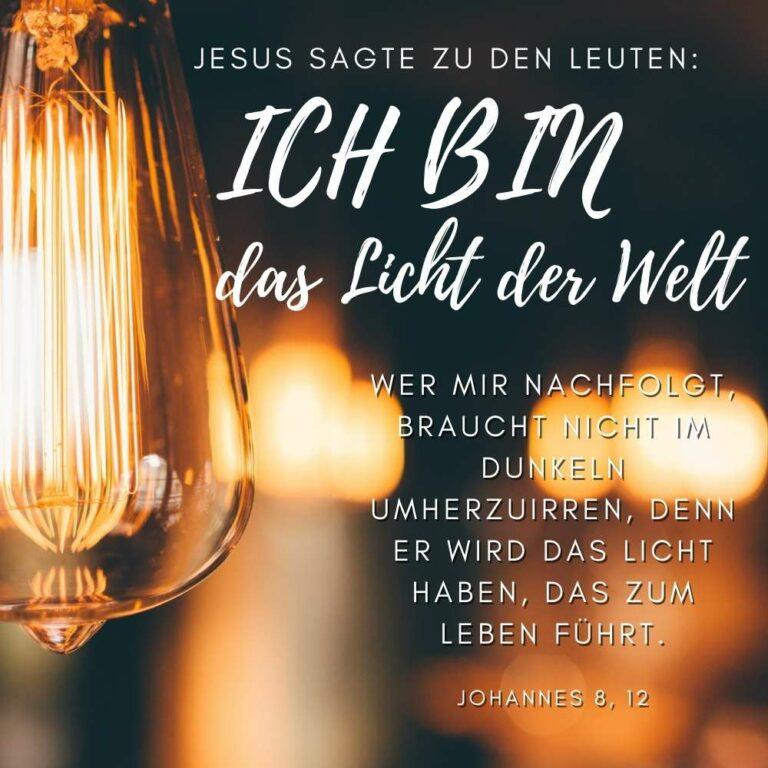 Bibelvers Johannes 8, 12