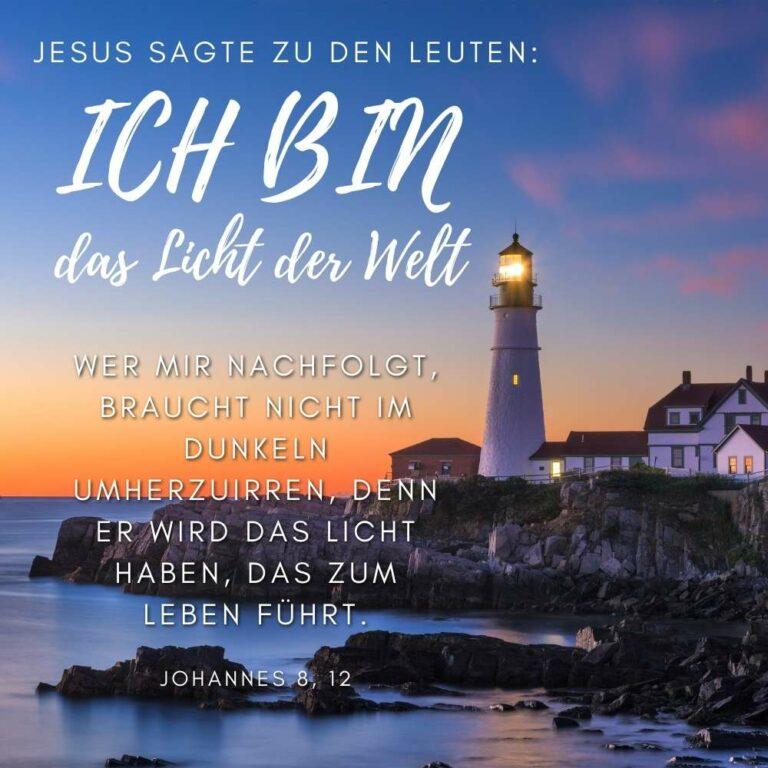 Bibelvers Johannes 8, 12 .