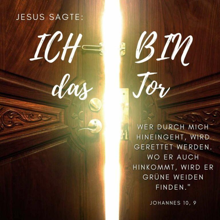 Bibelvers Johannes 10, 9