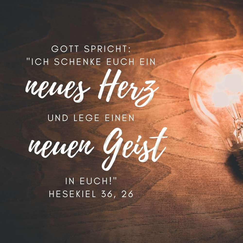 Bibelverse Ermutigung Hesekiel 36,26